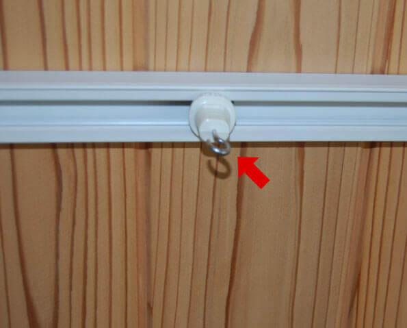 天井のレール式吊り下げ部品
